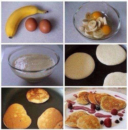 рецепты, простые рецепты, Банановые оладушки.